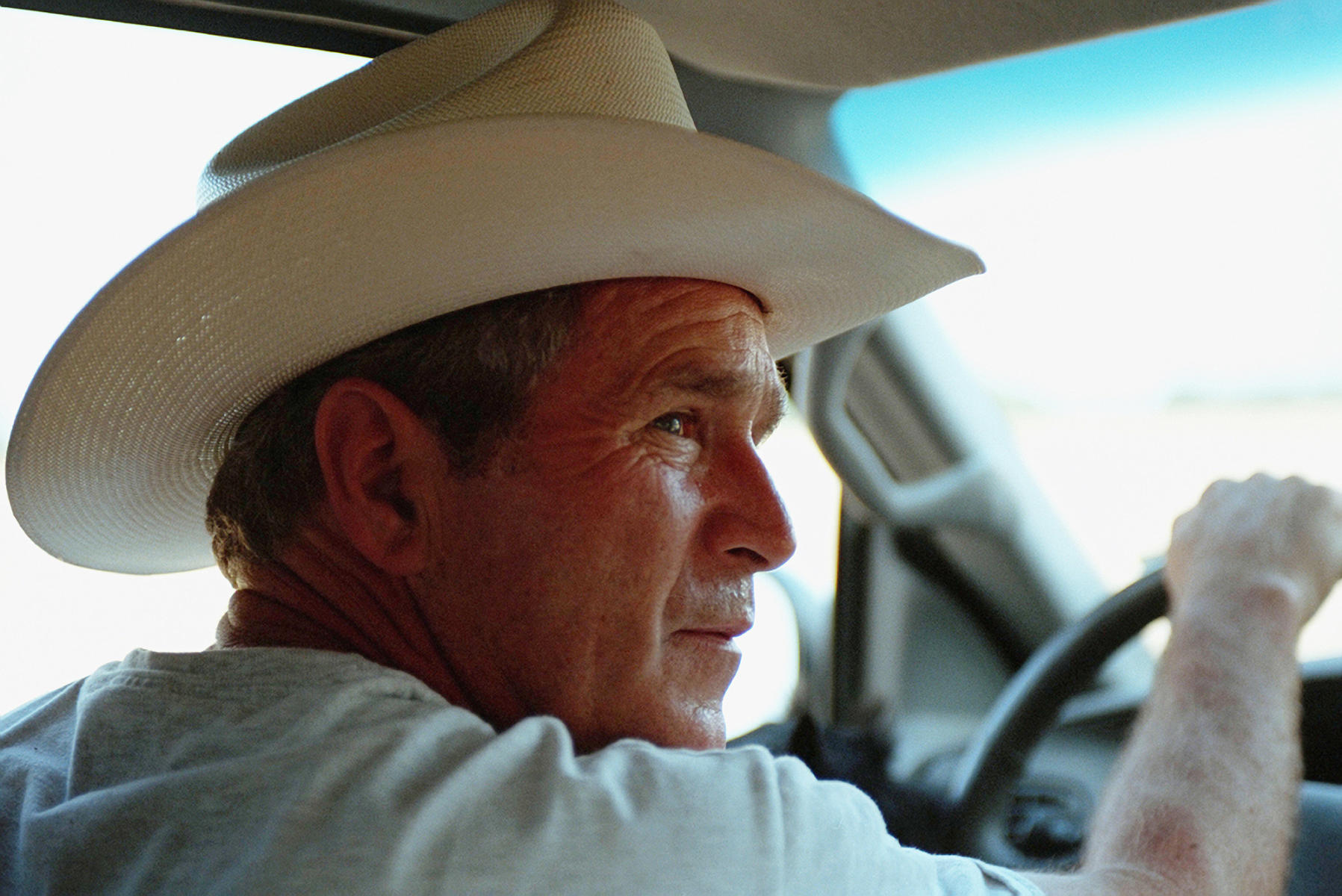 Crawford, Texas Aug. 7, 2001 : President George W. Bush : Welcome to Eric Draper Photography -  Commercial, Editorial, Weddings