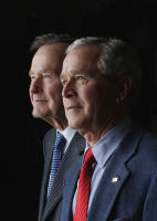 Father and son, President George H. W. Bush and President George W. Bush