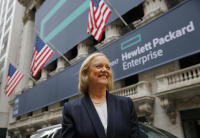 HPE CEO Meg Whitman at the New York Stock Exchange