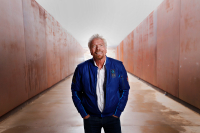 Sir Richard Branson photographed at Spaceport America for Virgin Galactic