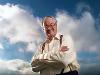 British author and dramatist John Mortimer. Los Angeles, CA